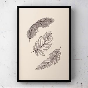 Modern minimalist  leave abstract wall art print